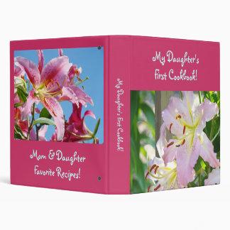 Daughter s First Cookbook recipe binder Lilies