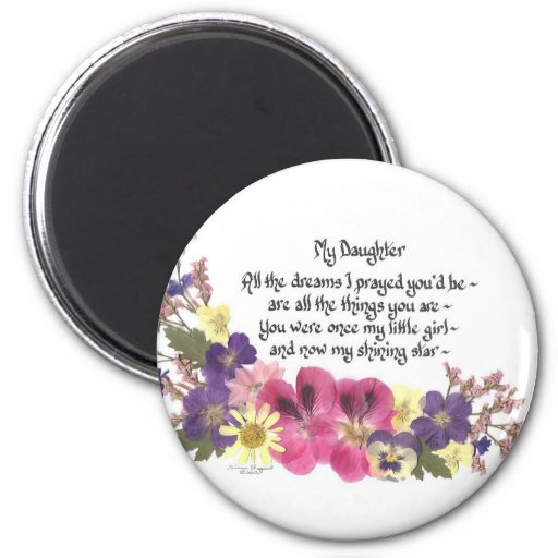 Daughter saying 2 inch round magnet