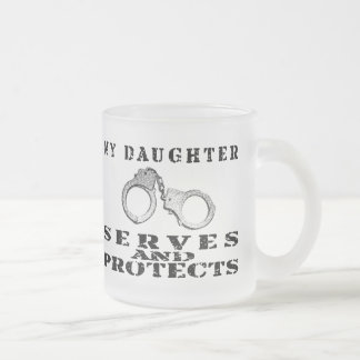 Daughter Serves Protects - Hat Frosted Glass Coffee Mug