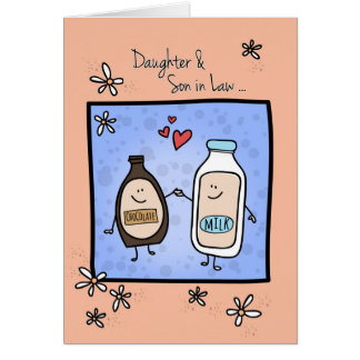 Daughter & Son in Law Anniversary, Chocolate Milk Card