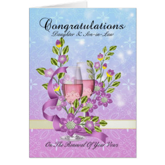 Daughter & Son-in-Law wedding vow renewal card