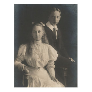 DAUGHTER & SON Kaiser Wilhelm II of Germany #033D Postcard