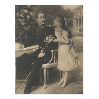 DAUGHTER & SON Kaiser Wilhelm II of Germany #034D Postcard