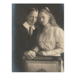 DAUGHTER & SON Kaiser Wilhelm II of Germany #035D Postcard