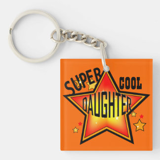 Daughter Super Cool Star Funny Keychain