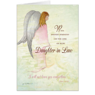 Daughter Sympathy Angel Greeting Card