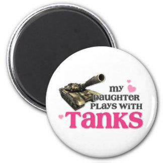 Daughter tanks fridge magnets