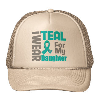 Daughter - Teal Ribbon Ovarian Cancer Support Trucker Hat