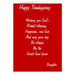 Daughter thanksgiving cards