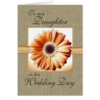 Daughter Wedding Day Card