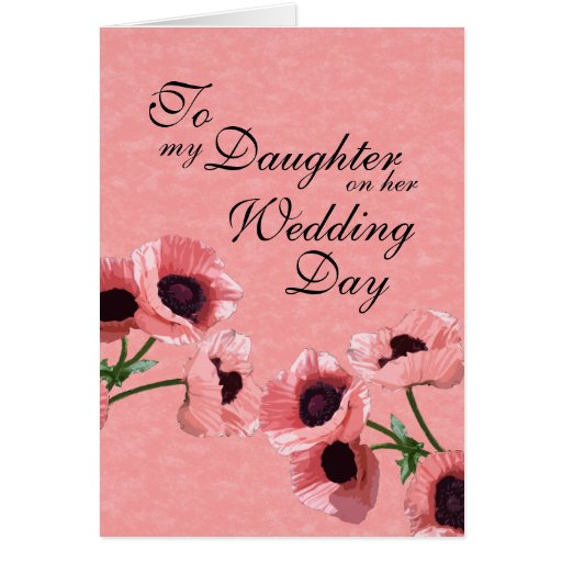 Daughter Wedding Day Cards
