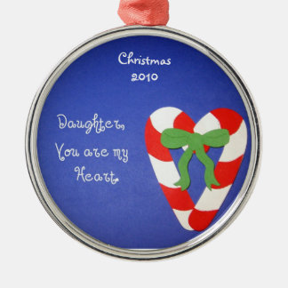 Daughter, You are my Heart. Metal Ornament