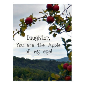 Daughter, you are the Apple of my eye! Postcard