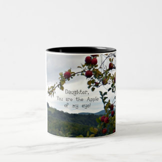 Daughter, you are the Apple of my eye! Two-Tone Coffee Mug
