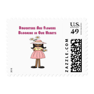 Daughters Are Flowers Blooming in Our Hearts Postage