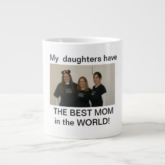 daughters best mom extra large mug