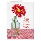 Daughter's Birthday Polka Dot Daisy Card