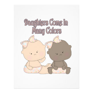"""daughters come in many colors adoption design 8.5"""" x 11"""" flyer"""