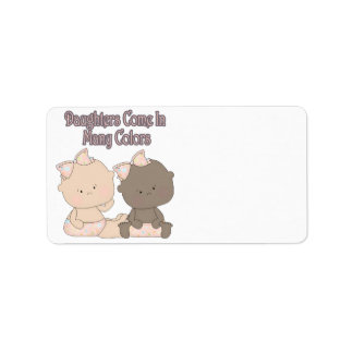 daughters come in many colors adoption design address label