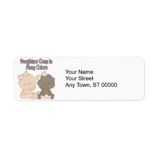 daughters come in many colors adoption design return address label