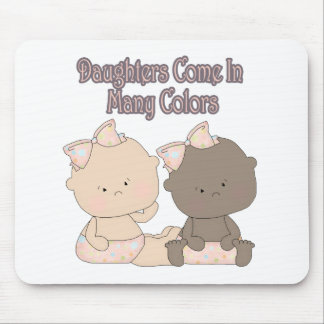 daughters come in many colors adoption design mouse pad