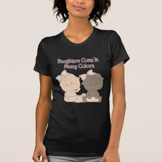 daughters come in many colors adoption design tees
