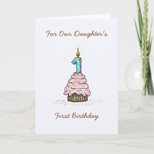 Daughters First Birthday Card Zazzle