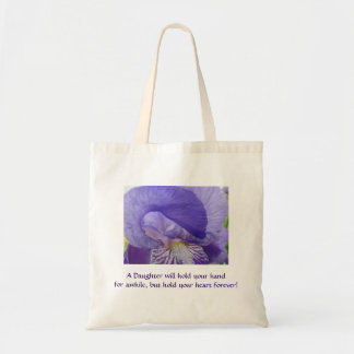 Daughters hold your Heart forever Tote Bag Irises