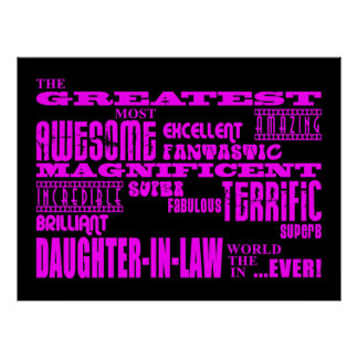 Daughters in Law Gifts : Greatest Daughter in Law Posters