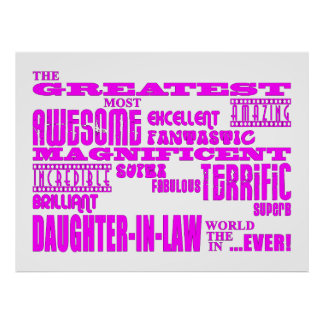 Daughters in Law Gifts : Greatest Daughter in Law Print