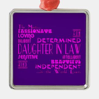 Daughters in Law Weddings & Birthdays : Qualities Metal Ornament