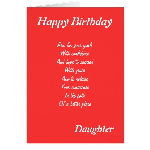 daughter 39 s inspirational birthday cards zazzle