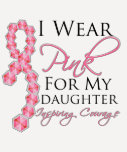 Daughter's Inspiring Courage - Breast Cancer Shirts