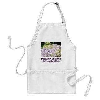 Daughters Moms Baking Sunshine apron Hydrangeas