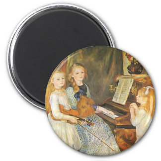 Daughters of Catulle Mendes by Pierre Renoir 2 Inch Round Magnet