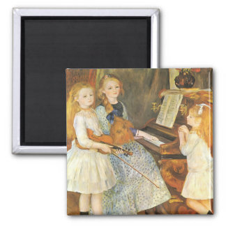 Daughters of Catulle Mendes by Pierre Renoir 2 Inch Square Magnet