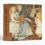Daughters of Catulle Mendes by Pierre Renoir 3 Ring Binder