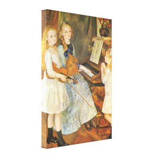 Daughters of Catulle Mendes by Pierre Renoir Canvas Print