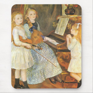 Daughters of Catulle Mendes by Pierre Renoir Mouse Pad