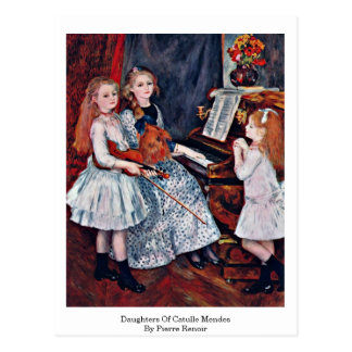 Daughters Of Catulle Mendes By Pierre Renoir Post Card
