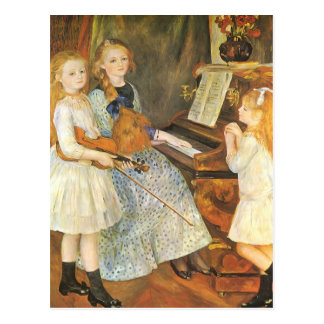 Daughters of Catulle Mendes by Pierre Renoir Postcard