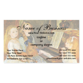 Daughters of Catulle Mendes; Pierre Auguste Renoir Double-Sided Standard Business Cards (Pack Of 100)