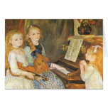 Daughters of Catulle Mendes; Renoir, Vintage Art Cards