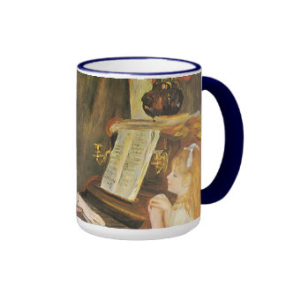 Daughters of Catulle Mendes; Renoir, Vintage Art Ringer Coffee Mug