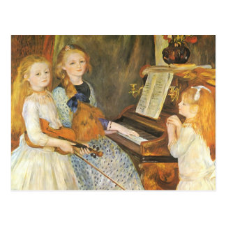 Daughters of Catulle Mendes; Renoir, Vintage Art Post Cards