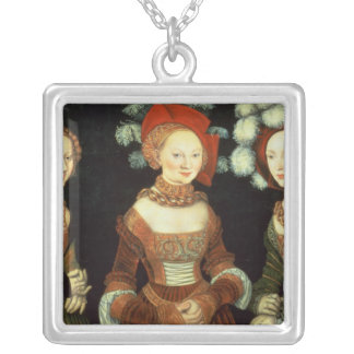 Daughters of Duke Heinrich of Frommen Square Pendant Necklace