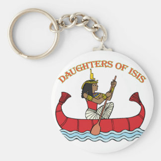 Daughters of Isis Basic Round Button Keychain