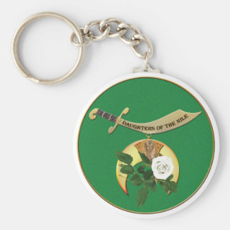 Daughters of the Nile Basic Round Button Keychain