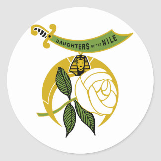 Daughters of the Nile Classic Round Sticker