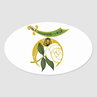 Daughters of the Nile Oval Sticker